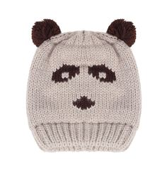 Cream Panda Hat - Winter Warmers - up to 60% off