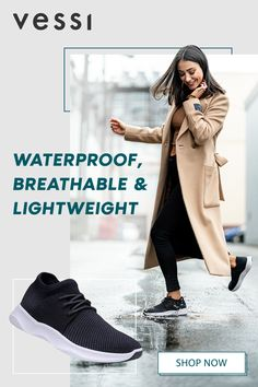 Time to ditch those chunky rubber boots and start dancing in the rain again! Vessi Footwear has designed your dream sneaker, it's lightweight, breathable, stretchy and waterproof! Winter Outfits, Casual Outfits, Cute Outfits, Fashion Shoes, Fashion Outfits, Knit Shoes, Dancing In The Rain, Look Chic, Womens Shoes Wedges
