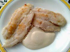 Pescado a la Plancha con Crema de Jengibre receta casera. Dulces Sueños