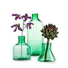 Imperfect Design Cantel Glas Vaas 25 cm - Groen