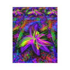 Gorgeous Flower Abstract Wrapped Canvas