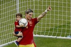 Fernando Torres and his boy Leo