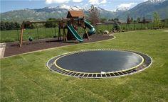 trampoline in ground yayyy