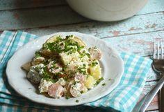 Német újkrumplis virslisaláta Potato Salad, Food And Drink, Potatoes, Ethnic Recipes, Potato