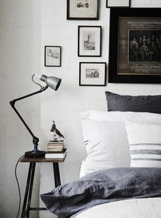 Pure french linen and handmade bedding in 'The White Room' - photo Lisa Cohen / styling Lynda Gardener.