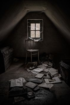 Darrenn Nisbett -- Melancholy Walls : The Attic Abandoned Buildings, Abandoned Places, Modern Mansion, A Series Of Unfortunate Events, Dark Photography, Dark Places, The Villain, Back To Nature, Image Hd
