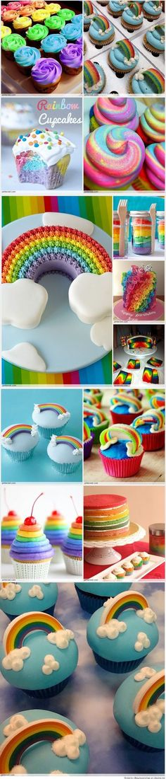 Rainbow Cake / Cupcakes (Creative Baking Awesome)