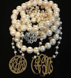 Pearls anyone?!?!?!  Jane Basch monograms...