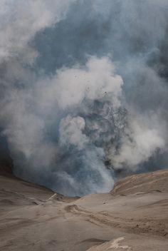Smoking and exploding Bromo |