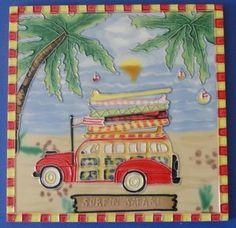 Decorative Wall Tiles, Ceramic Wall Art, Ceramic Decor, Tile Art, Safari, Wall Decor, Ceramics, Amazon, Wall Hanging Decor