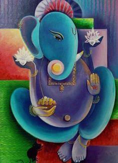|| OM GHAM GHANPATYAI NAMH: || || OM HIRIM' HUM' DURGHAYAI NAMH: || || OM NAMH: SHIVAY || || OM VISHNVEYAI NAMH: || || OM SURYADEVAYAI NAMH: || || OM SHREE HANUMANTE NAMH: || Ganesha Sketch, Ganesha Drawing, Lord Ganesha Paintings, Ganesha Art, Krishna Art, Pichwai Paintings, Modern Art Paintings, Simple Paintings, Nursery Paintings