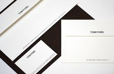 Tom Ford branding, stationery design, packaging design for Tom Ford Eyewear and…