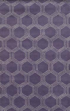 Tamaulipas Hand-Tufted Purple Area Rug