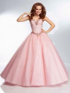 Ball Gown Pink Organza Formal Dress/ Prom Dress Evening Dress Parai 95059