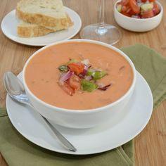 Creamy Gazpacho Andaluz {Sweet Pea's Kitchen}