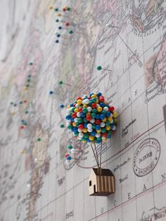 Ballon Pin House von CliveRoddy auf Etsy Beautiful Quirky Home Office Accessories Balloon Clusters, Pin Up, Home Office Accessories, Camera Accessories, Travel Accessories, Decoration Bedroom, Wall Decor, Diy Wall, Geek Decor