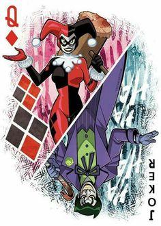 Harley and Joker card🃏♦️❤️❤️ Harley Tattoos, Harley Quinn Tattoo, Harley Quinn Comic, Joker Card Tattoo, Joker Art, Batman Art, Harely Quinn, Heath Ledger Joker, Court Of Owls