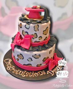 Leopard Print graduation cake
