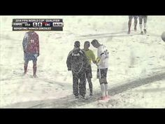 USA soccer in the snow