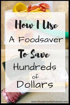 Learn how to save money using a Foodsaver. Owning a Foodsaver will save you tons of money on meat and produce, and help you lower your grocery budget. Learn how to be more frugal with these money saving tips and tricks. Cooking On A Budget, Budget Meals, Budget Recipes, Cooking 101, Cooking Hacks, Frugal Meals, Planning Budget, Meal Planning, Food Saver Vacuum Sealer