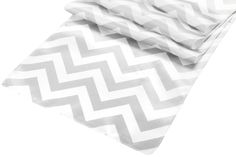 Chevron Satin Table Runner - Gray ● As Low as $3.69 ● Available from www.cvlinens.com