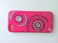 I just decorated my iPod 5 case it is now so sparkly and pink lol!!! :) totally doing this!!!