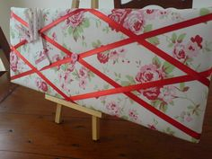 aok's paper stuff and more: Shabby Chic Fabric Notice Boards