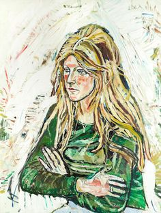 John Bratby R.A. (British, 1928-1992) Blonde girl (unframed)