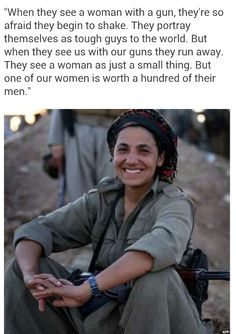 Women Kurdish fighters.