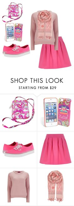 """""""Pink"""" by haleyhuff736 ❤ liked on Polyvore featuring Vera Bradley, Vans, River Island, HUGO and BeckSöndergaard"""