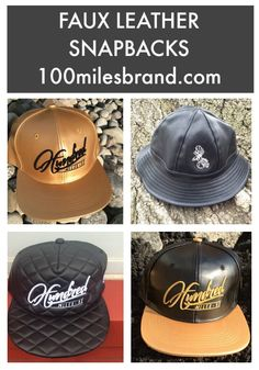 FAUX LEATHER SNAPBACKS AND BUCKET HATS  urbanbrand  streetstyle  goldhats   fauxleather  fauxleatherhats ced99cca0f7