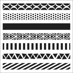 """Look what I found on #blitsy! Crafter's Workshop Template 6""""X6""""-Pattern Strips #blitsybuys"""