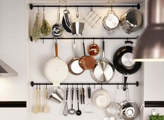 Fintorp Rail IKEA Wall storage. Like the vintage industrial feel to it.