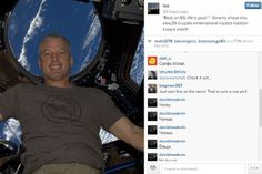 Selfies ... in space! First Instagram post from ISS