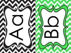 FREEBIE: Chevron Alphabet Cards