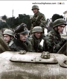 Fallschirmjager riding a Sd.Kfz 231 (8 Rad) Of 15 Panzergrenadier Division. Italy, 1943.