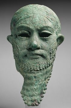 Head of a ruler, ca. 2300–2000 b.c.  Iran or Mesopotamia, Arsenical copper, Met Museum