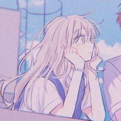 Cute Anime Pics, Anime Girl Cute, Kawaii Anime Girl, Anime Art Girl, Anime Love, Anime Couples Drawings, Cute Anime Couples, Cartoon Drawings, Cute Drawings