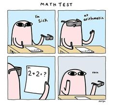 This was me yesterday in my Math class at college :O Are you good at Math?