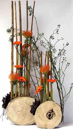 Creative Flower Arrangements, Modern Floral Arrangements, Beautiful Flower Arrangements, Deco Floral, Arte Floral, Floral Design, Fall Flowers, Dried Flowers, Recycled Crafts