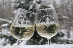 Now that's how we chill wine at Shadow Mountain Escape!  Think snow!