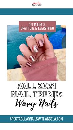 For an easy wave-effect design, top your tips with Get in Line, a pattern of abstract waves in shades of red, orange, purple, and sage on shimmery gold. Rock fall with this simple nail art design and instantly graduate your nails from basic to brilliant in minutes. This fabulous nail art design is super unique and will give your nails the trendy look you've been looking for. Shop now and get a perfect for the beach summer nail polish idea with Color Street! #fallnails #nails2021 #autumnnails Simple Nail Art Designs, Easy Nail Art, Winter Nail Art, Winter Nails, Easy Waves, Summer Nail Polish, Wood Nails, Abstract Waves, Nail Polish Strips