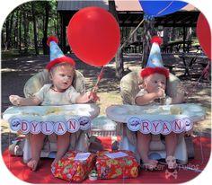 twins first birthday airplane theme