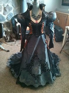 Witch Dress out of an old wedding dress