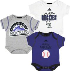 Colorado Rockies 3 Piece Newborn/Infant Body Suit Set