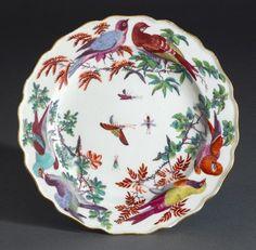 Plate (circa 1760-1765) | Chelsea, (England 1744–1769) | Ceramic, Soft-paste porcelain | 2.8 x 21.3 cm diam