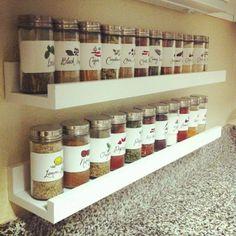 étagère pour photos transformée en support pour épices