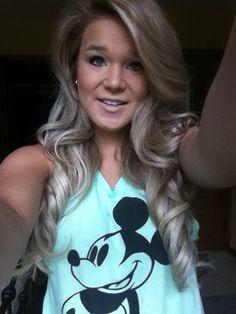 Ash blonde long curls