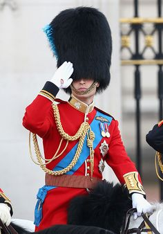 Duke of Cambridge - Trooping the Colour salutes the Queen and all those who died serving their nation