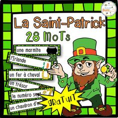 by French Buzz St Patricks Day Crafts For Kids, St Patrick's Day Crafts, French Teaching Resources, Teaching French, Core French, French Grammar, Free In French, French Classroom, Les Themes